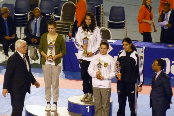 Siegerehrung Anna-Lena Kersten: Platz 2 bei den Dutch Open 2011 (Junior Female -68 kg)