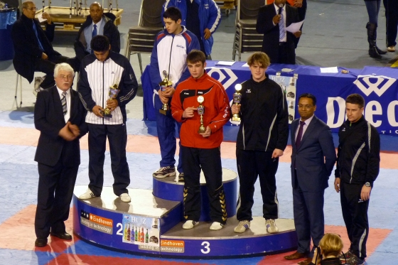 Christopher Schmidt (Junior Male +78 kg) mit Platz 3 in Eindhoven